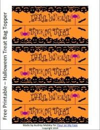 printable halloween treat bag toppers