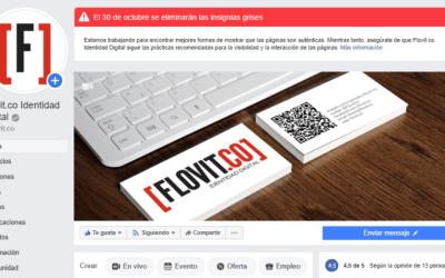 Facebook también eliminará las insignias grises en las páginas