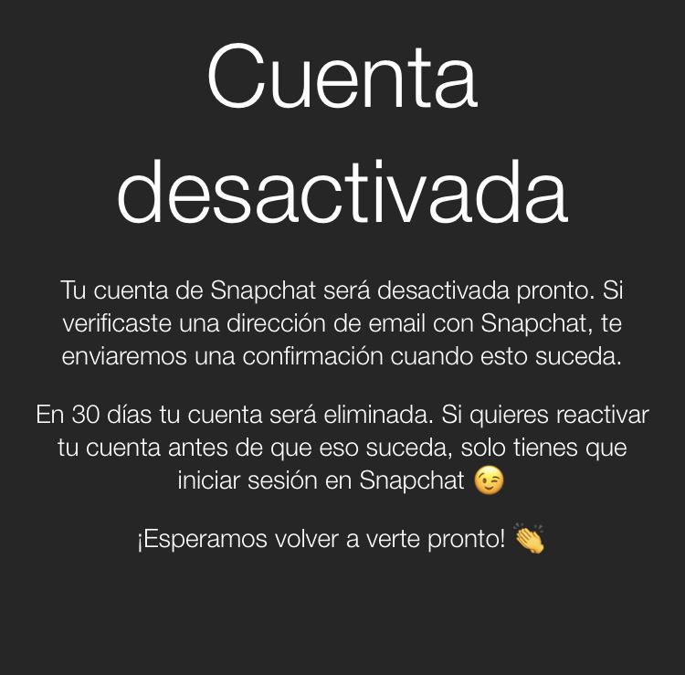 Cómo eliminar tu Snapchat