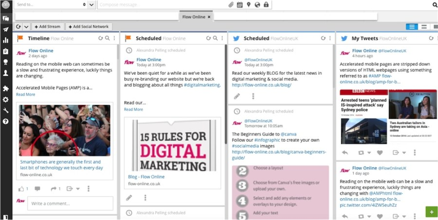 hootsuite dashboard image