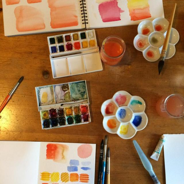 Today I gave my first private watercolor class! I thinkhellip