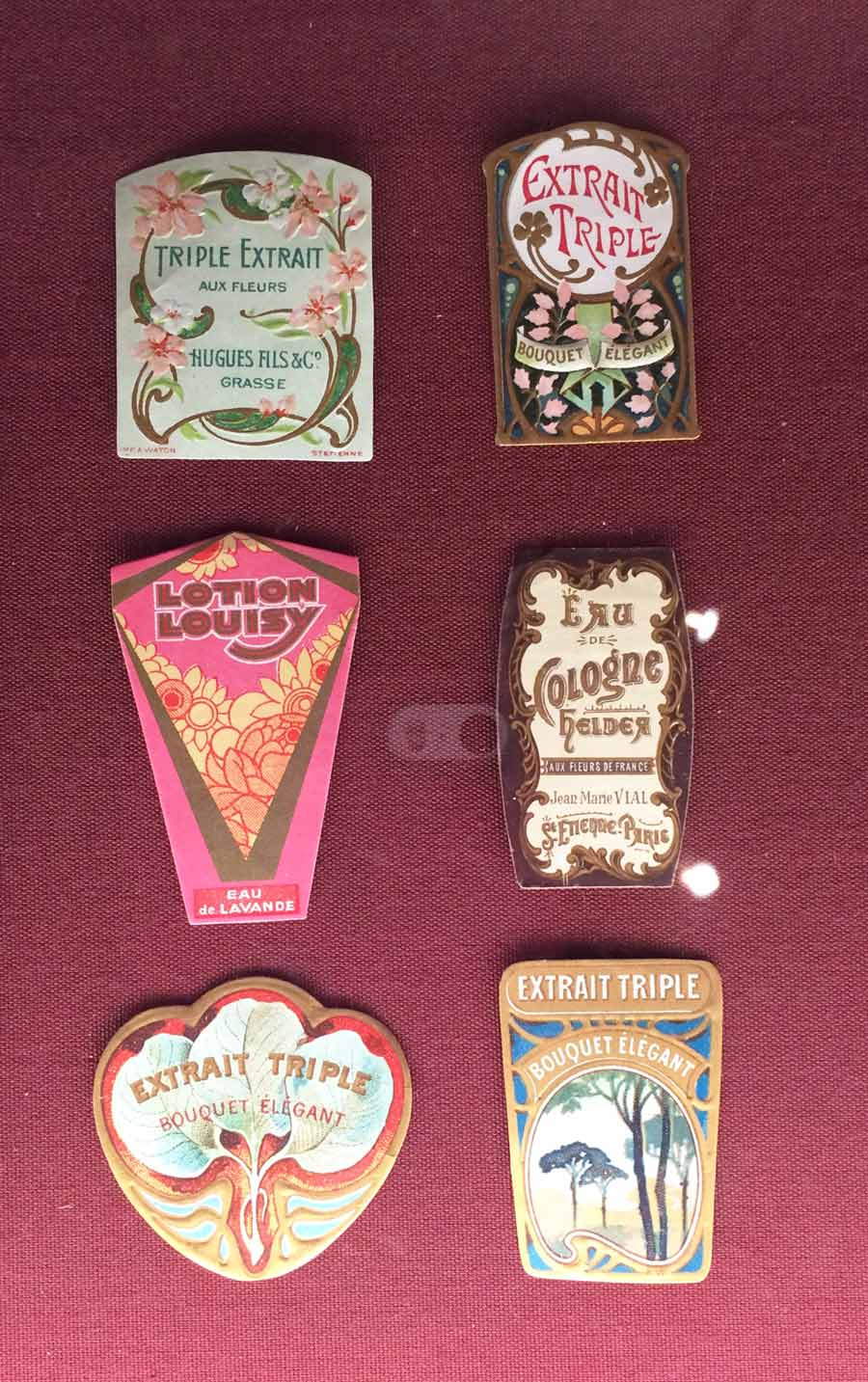 Vintage product labels