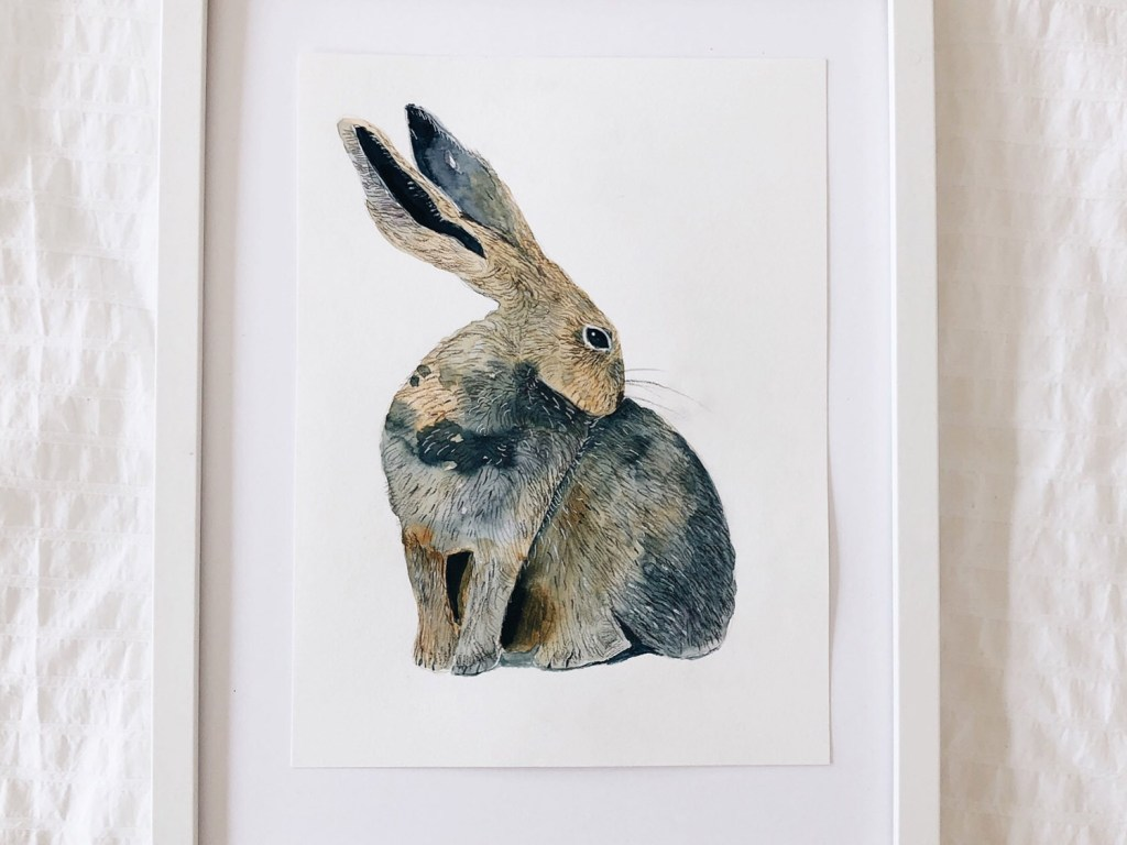 Watercolor Hare by FlowArte