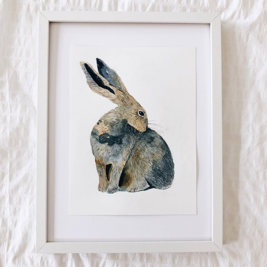 Watercolor Rabbit by FlowArte