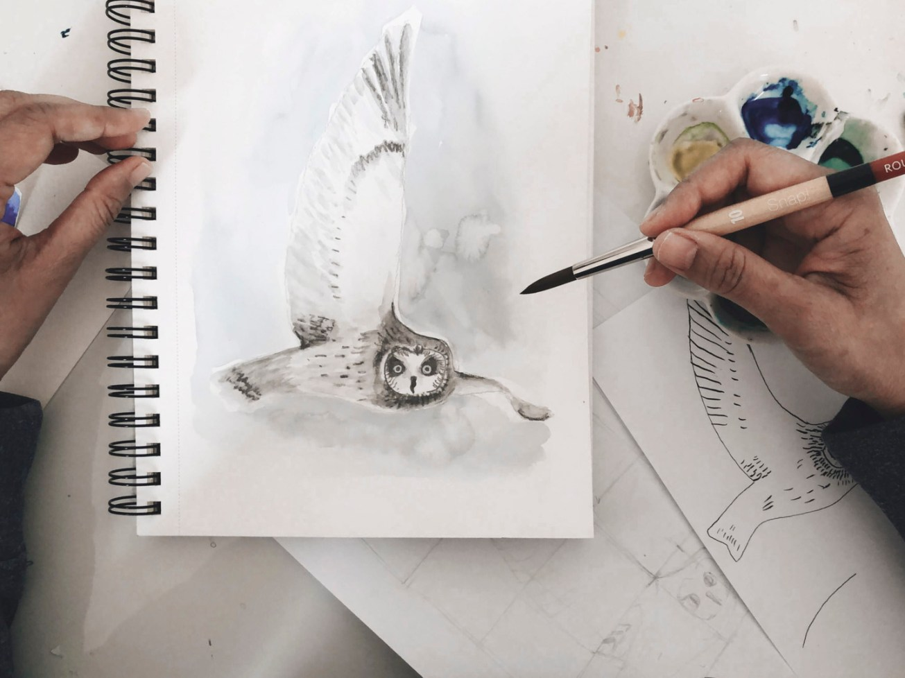 Luisa Painting an owl