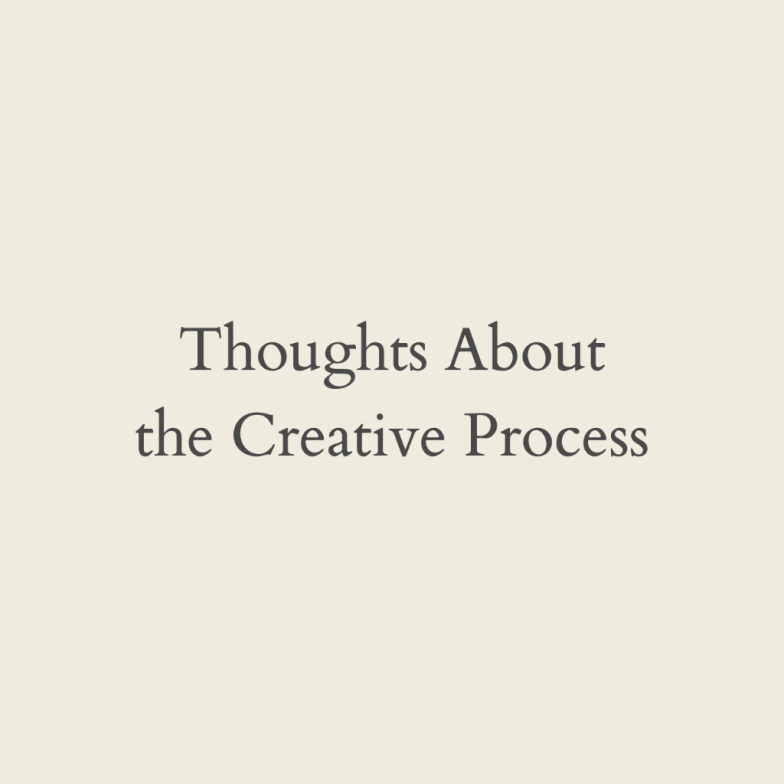 Articles about the creative process