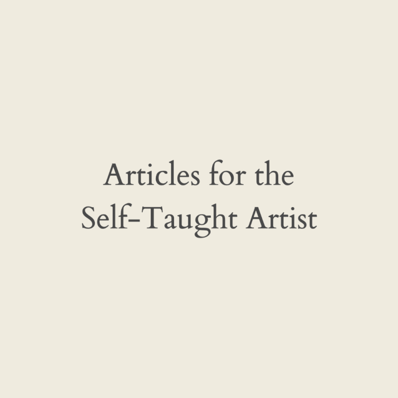 Articles for the Self taught artist