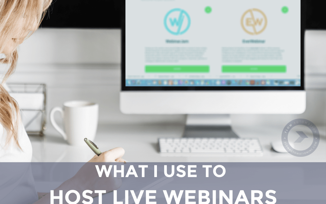 What I Use to Host Live Webinars