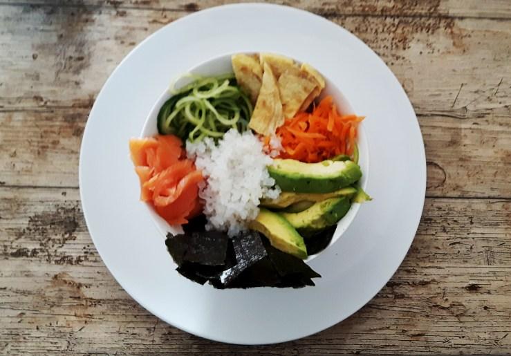 Koolhydraatarme sushi bowl