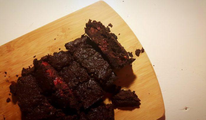 Koolhydraatarme brownies met framboos