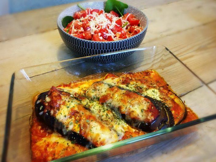 koolhydraatarme aubergine parmesan - flowcarbfood.nl
