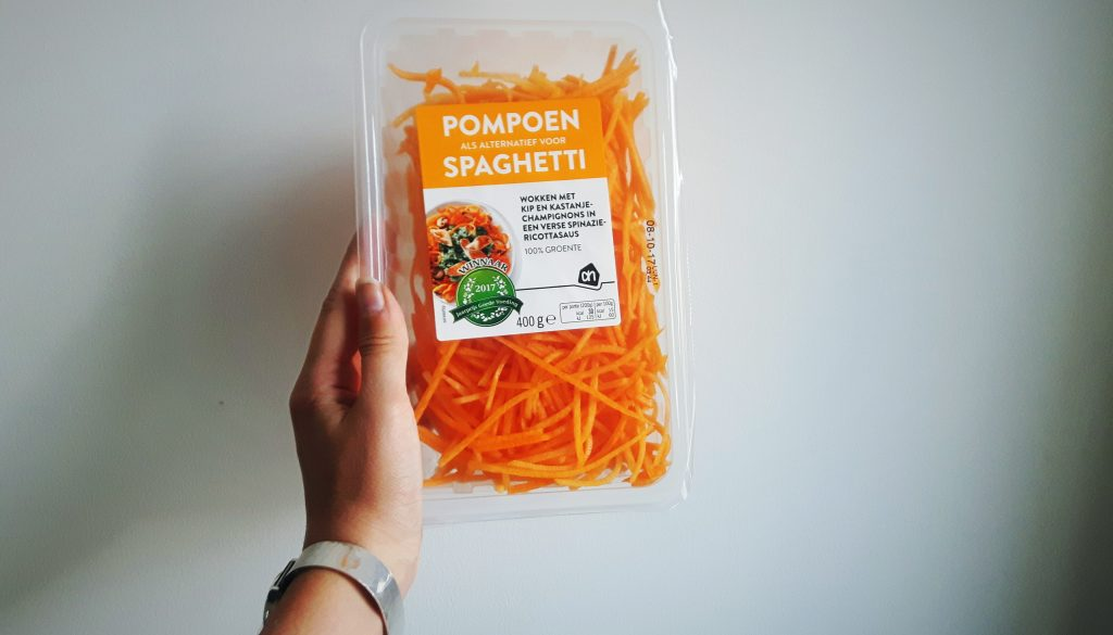 Koolhydraatarme pompoenspaghetti - productreview flowcarbfood.nl