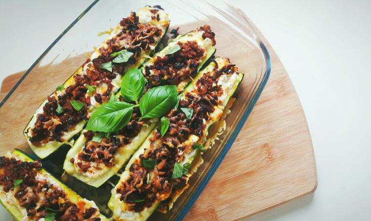 koolhydraatarme lasagne courgettebootjes