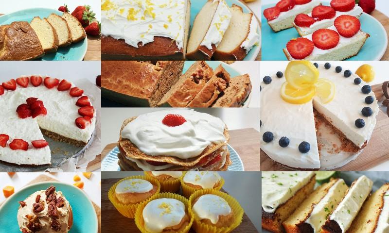 Favoriete koolhydraatarme cake en taartrecepten