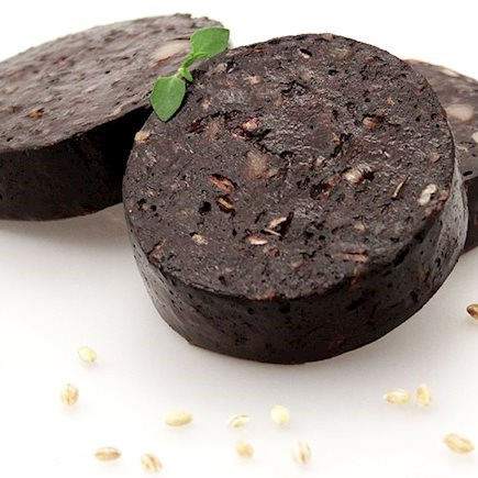 Black Pudding (infused with Leek & Bacon)
