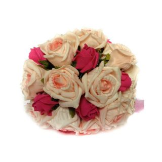 Pink Artificial Brides Bouquet