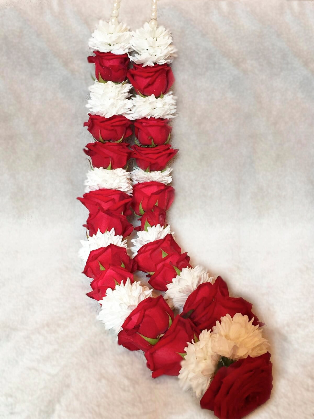 Red White Wedding Garland