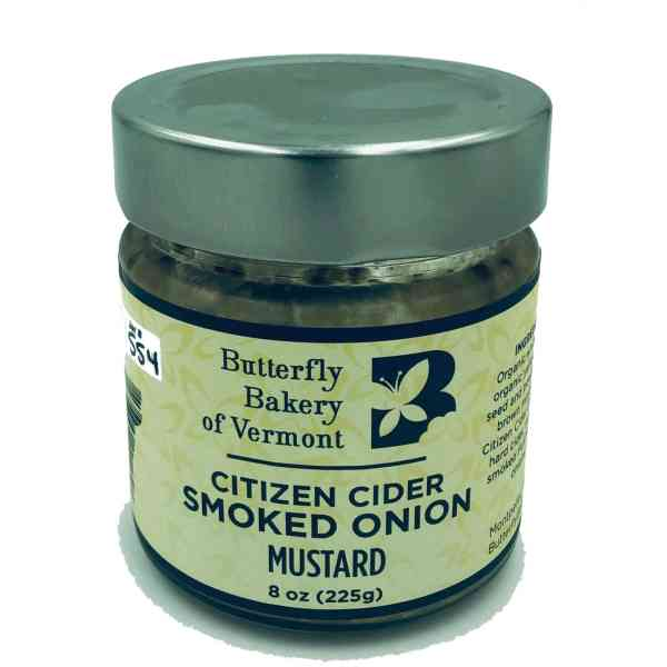 Butterfly Bakery of Vermont Citizen Cider Smoked Onion Mustard