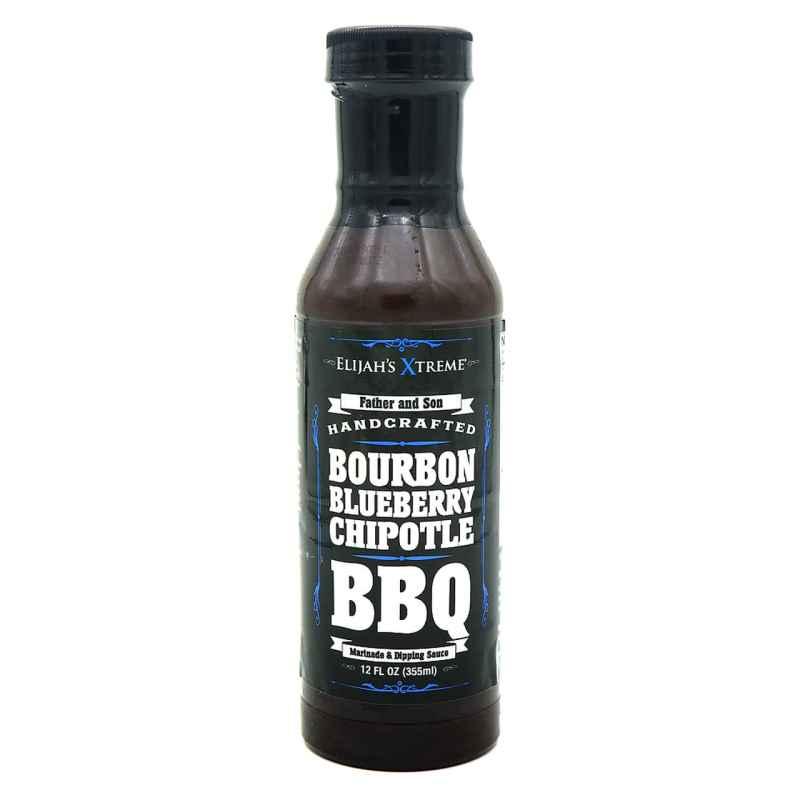 Elijah's Xtreme Bourbon Infused Blueberry Chipotle BBQ Sauce