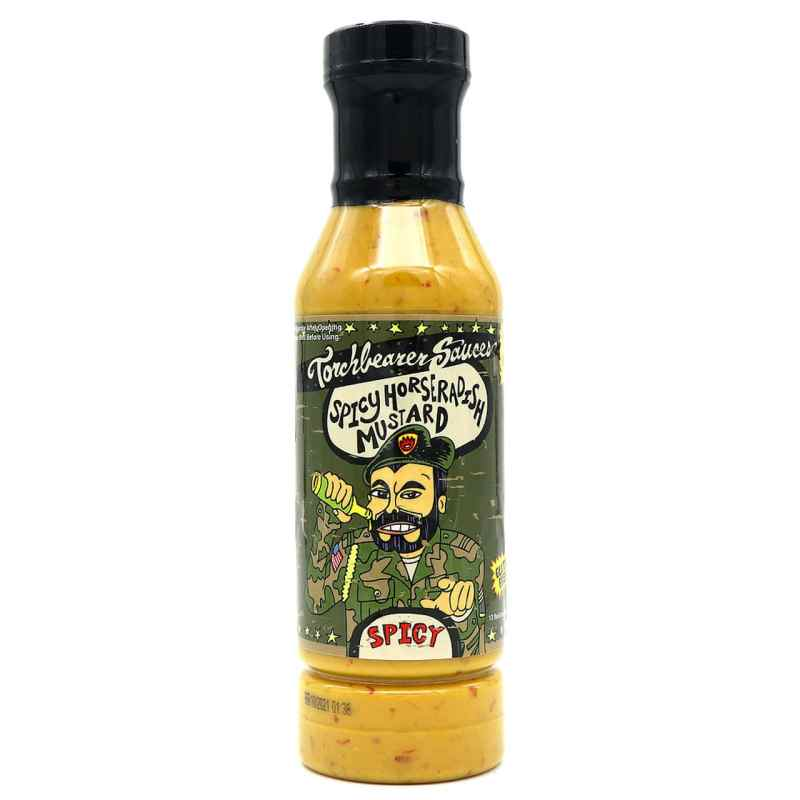 Torchbearer Sauces Spicy Horseradish Mustard