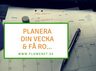 planera din vecka