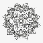 svartvit mandala