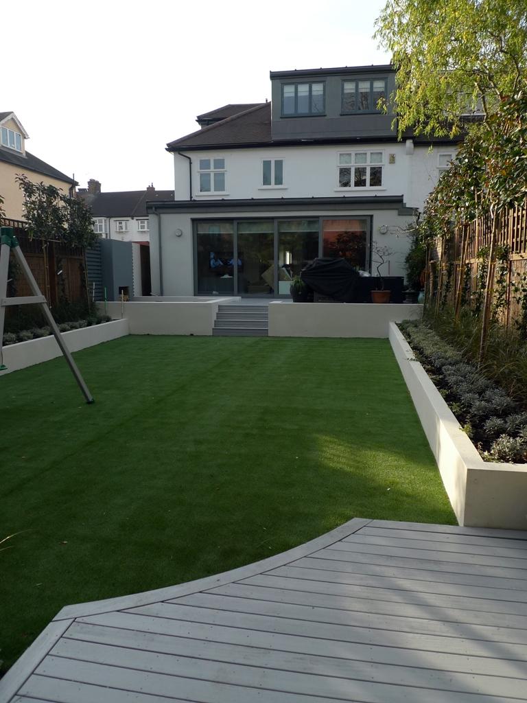 Modern low maintenance minimalist garden design idea ... on Modern Backyard Landscape Ideas id=70460