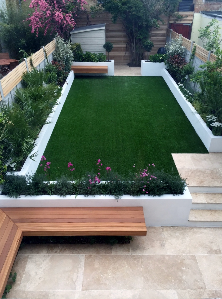 Modern garden design ideas Fulham Chelsea Battersea ... on Landscape Garden Designs For Small Gardens id=62884