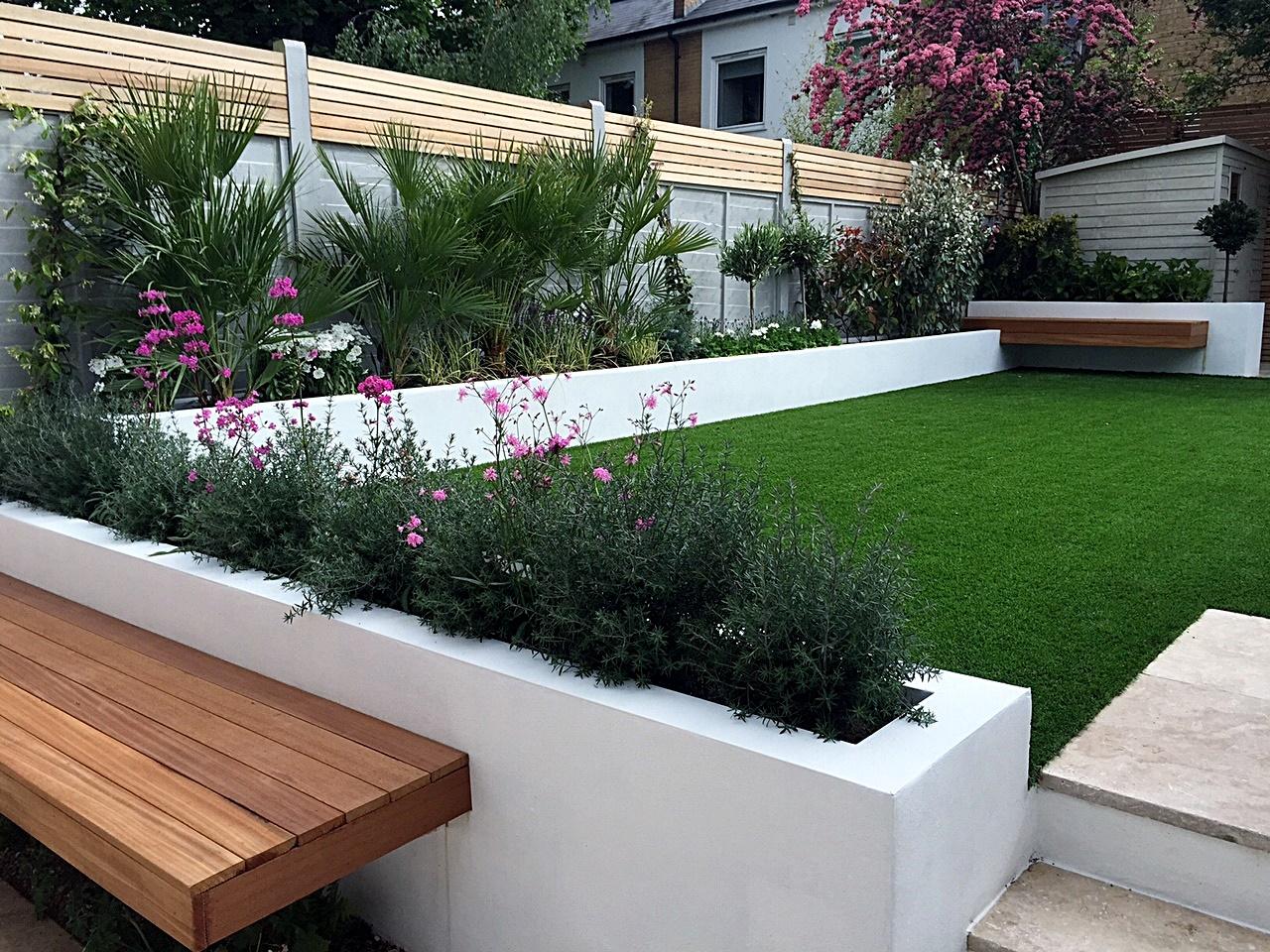 Modern garden design Fulham Chelsea Clapham grass ... on Modern Backyard Landscape Ideas id=28863
