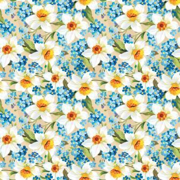画像サンプル-壁紙:スイセンパターン