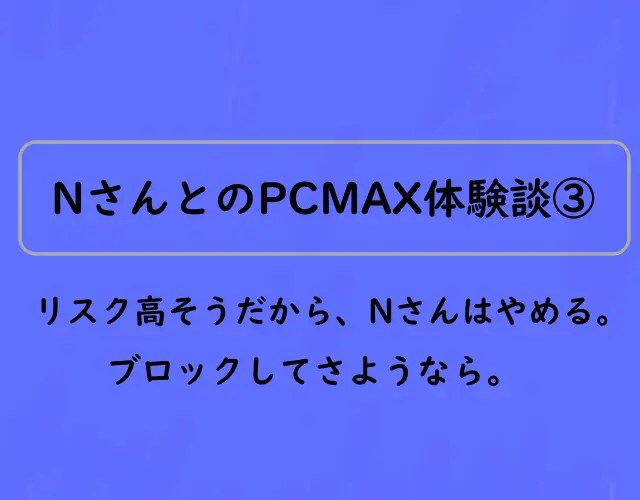 PCMAX体験談Nさん③