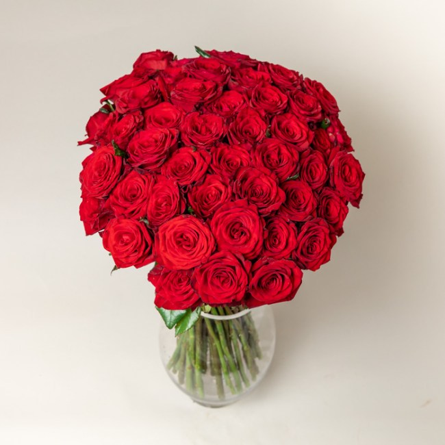 51 red roses bouquet by Flowerist