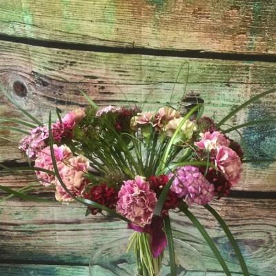 Hand-tied wedding bouquet by flowerjoy