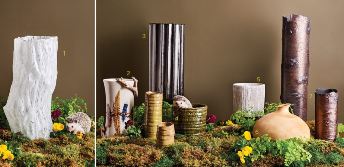 woodland inspired vases