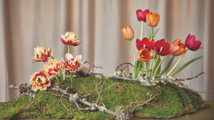 tulip centerpiece how to