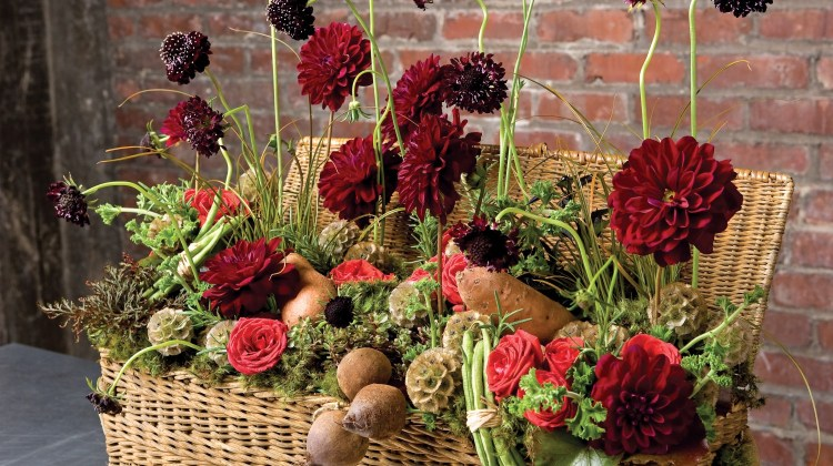 vegetable arrangement, thanksgiving centerpiece