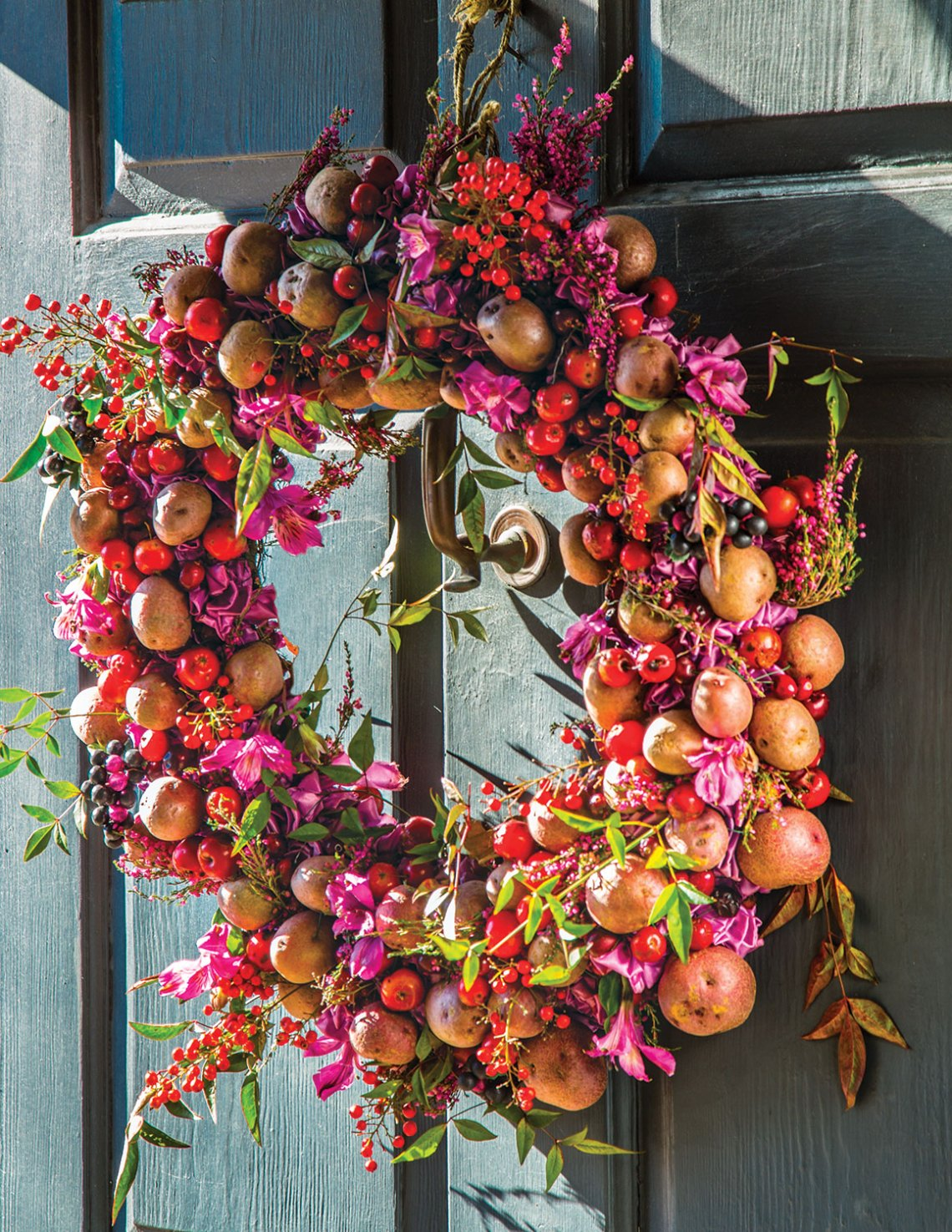 laura dowling, potato wreath