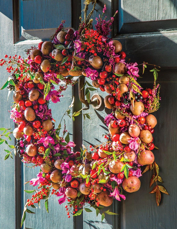 laura dowling, potato wreath