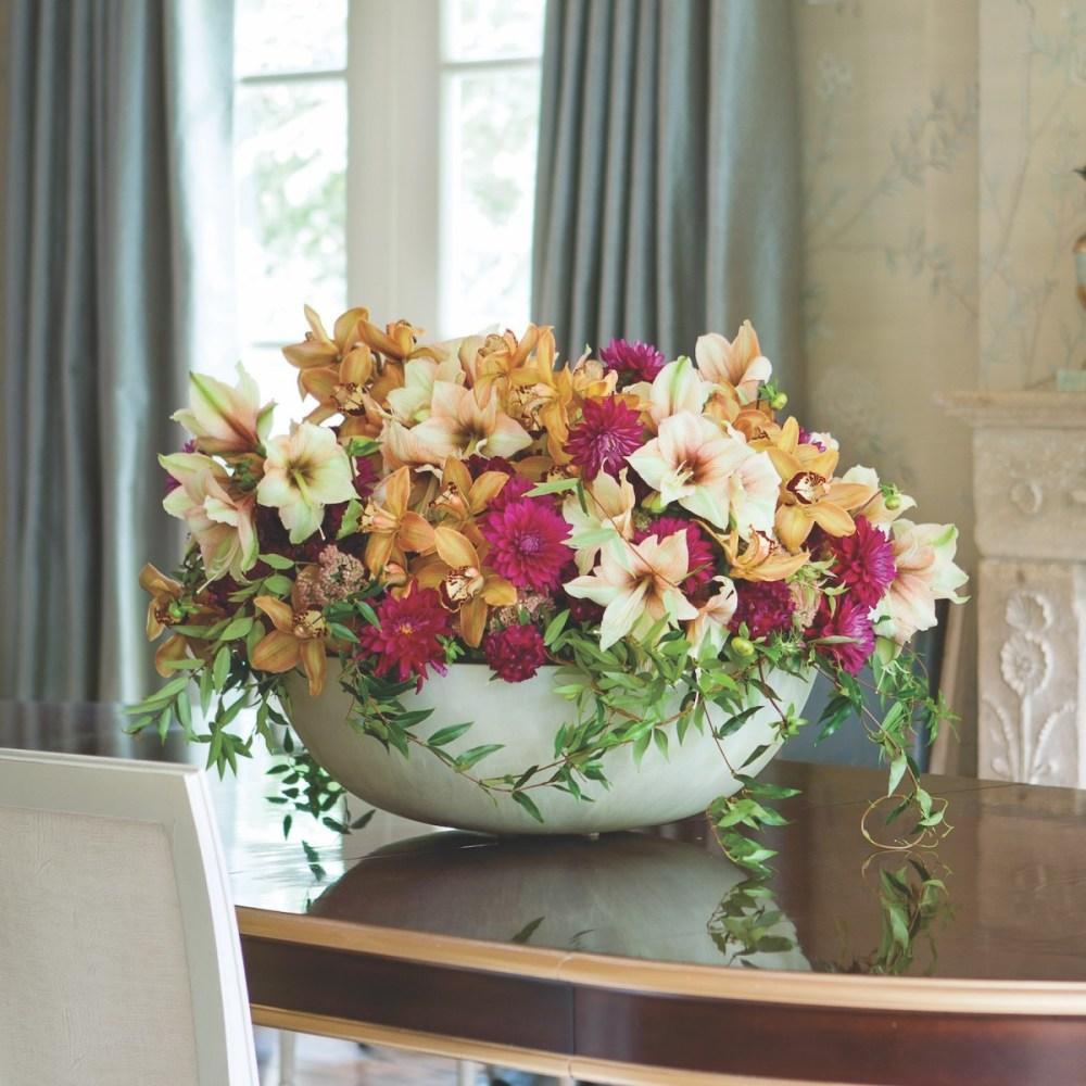 michal evans flower arrangement