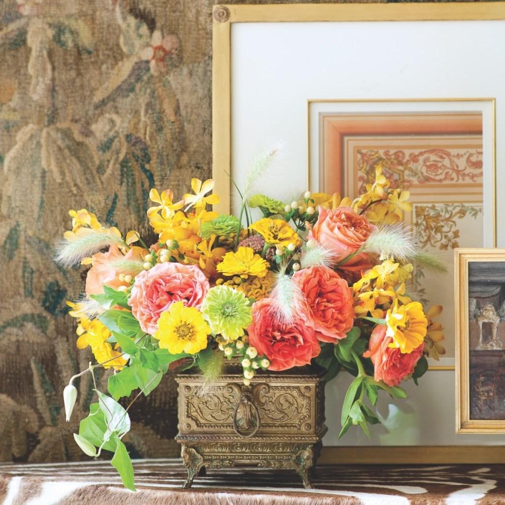 michal evans yellow arrangement