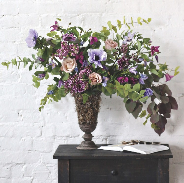 example of lilacs in a flower arrangement