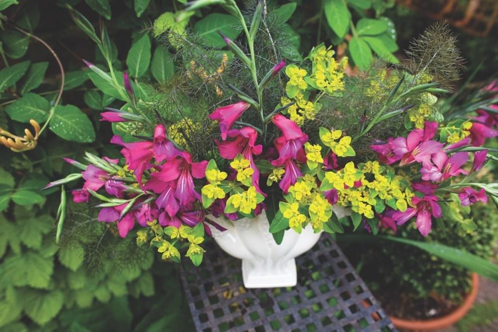 gladiolus flower arrangement