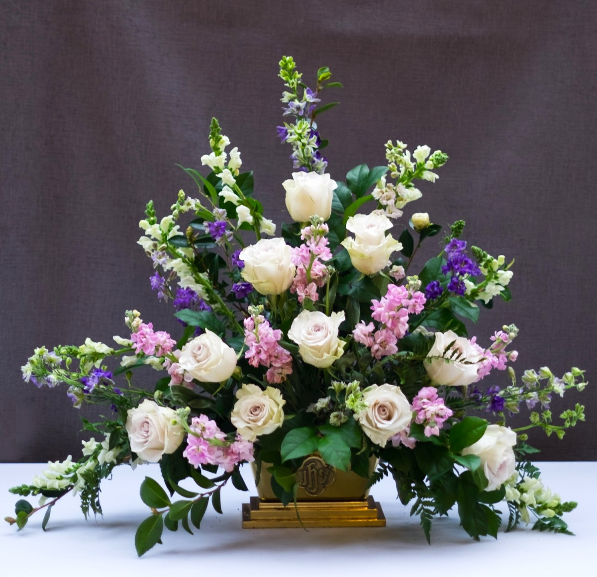 Classic Triangle Church Flower Arrangement Flower Magazine