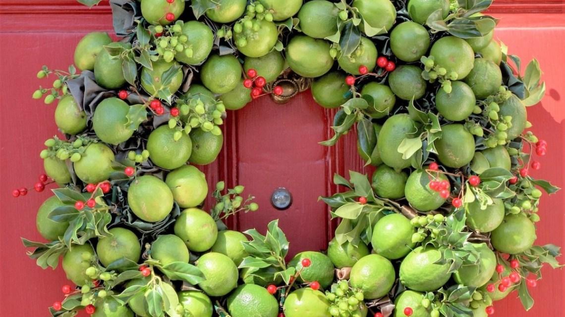 lime wreath, Laura Dowling wreaths