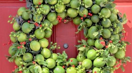 lime wreath, Laura Dowling wreaths