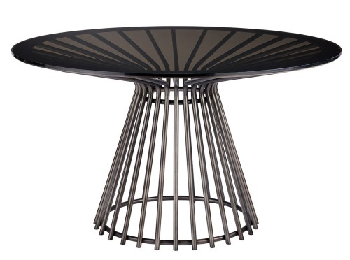 modern black circular table