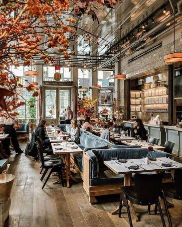 The dining area of La Mercerie
