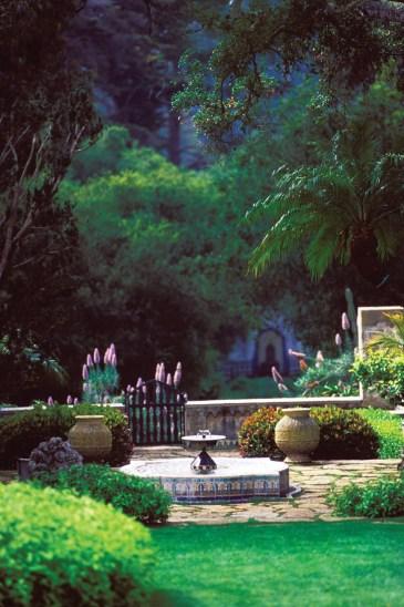 Garden at Casa Del Herrero in Montecito near Santa Barbara in Central California