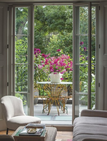 french doors, terrace