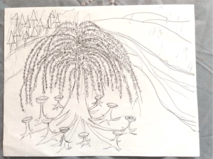 The Story of a Flower - landscape drawing